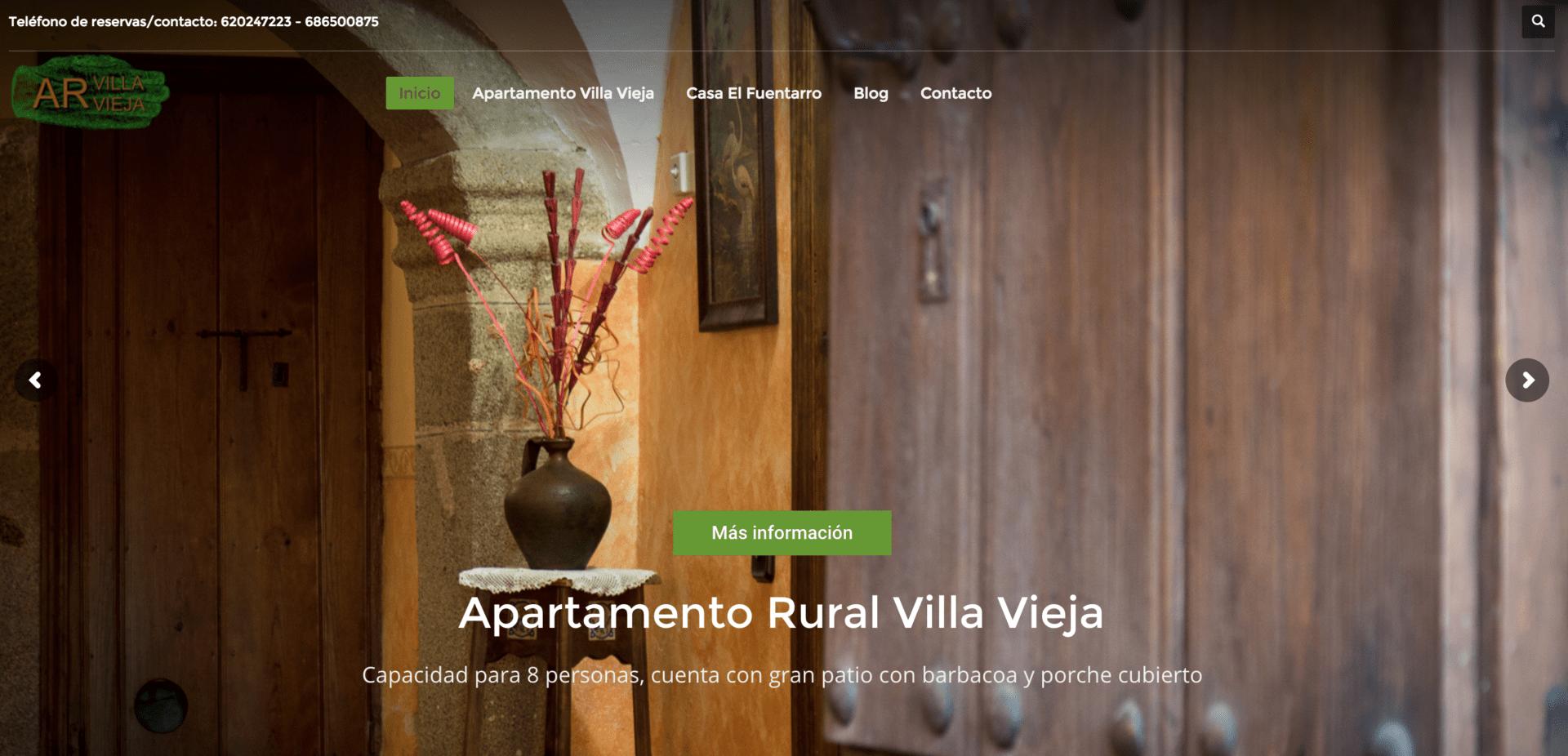 Diseño Web para AR Villa Vieja del Tamuja